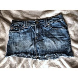 Abercrombie & Fitch Blue Jean Skirt